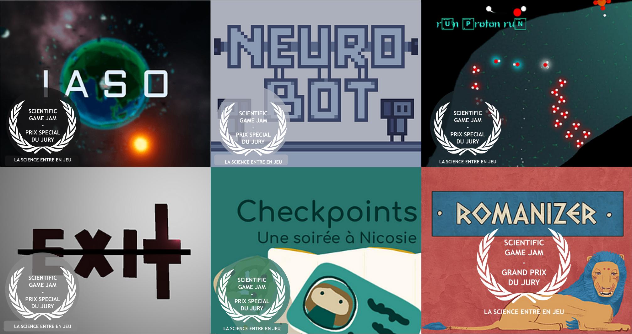 Les gagnants de la Scientific Game Jam 2021